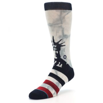 Image of Lady Liberty Men's Casual Socks (side-2-front-08)