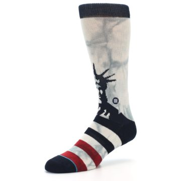 Image of Lady Liberty Men's Casual Socks (side-2-09)