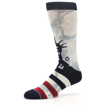 Image of Lady Liberty Men's Casual Socks (side-2-10)