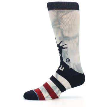Image of Lady Liberty Men's Casual Socks (side-2-11)