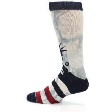 Image of Lady Liberty Men's Casual Socks (side-2-13)
