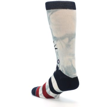 Image of Lady Liberty Men's Casual Socks (side-2-back-15)
