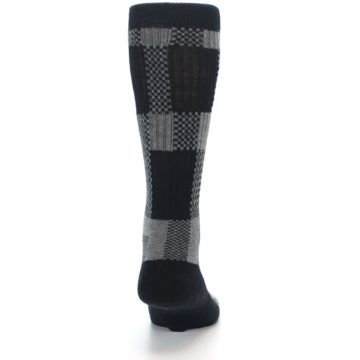 Image of Grey Black Checkered Men's Casual Socks (back-19)