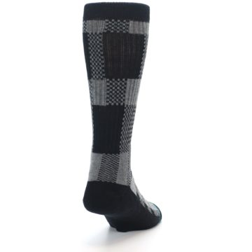 Image of Grey Black Checkered Men's Casual Socks (side-1-back-20)