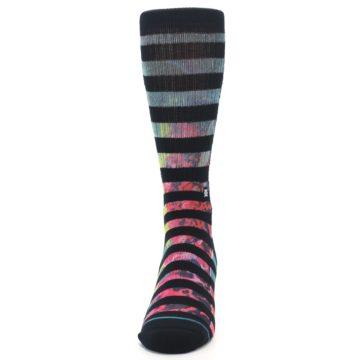 Image of Black Multi Stripe Men's Casual Socks (front-05)