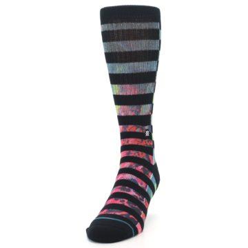Image of Black Multi Stripe Men's Casual Socks (side-2-front-06)