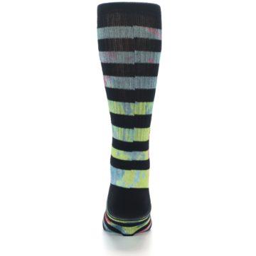 Image of Black Multi Stripe Men's Casual Socks (back-18)