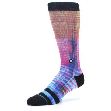 Image of Multi-Color Stripe Pattern Men's Casual Socks (side-2-09)