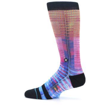 Image of Multi-Color Stripe Pattern Men's Casual Socks (side-2-12)