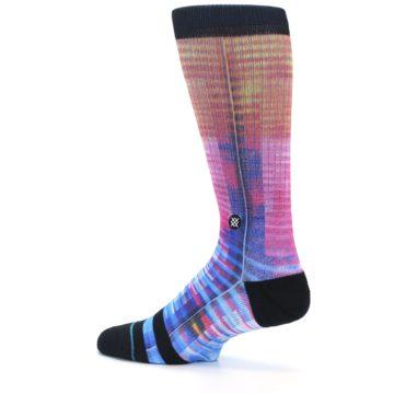 Image of Multi-Color Stripe Pattern Men's Casual Socks (side-2-13)