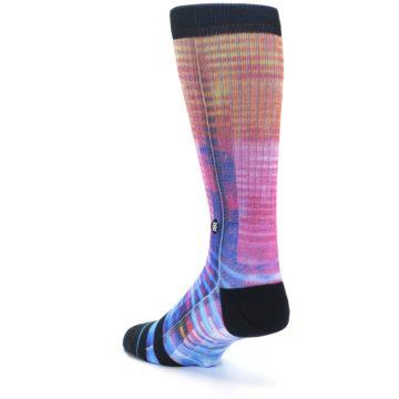 Image of Multi-Color Stripe Pattern Men's Casual Socks (side-2-back-15)