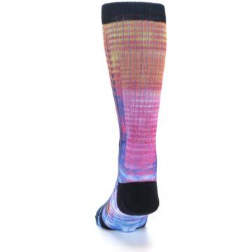 Image of Multi-Color Stripe Pattern Men's Casual Socks (back-17)