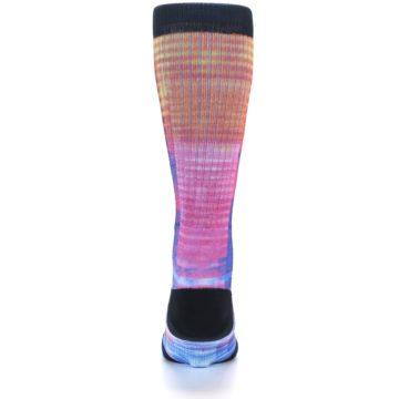 Image of Multi-Color Stripe Pattern Men's Casual Socks (back-18)