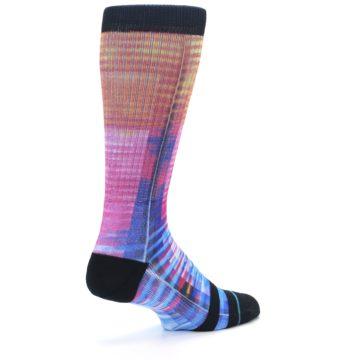 Image of Multi-Color Stripe Pattern Men's Casual Socks (side-1-back-22)