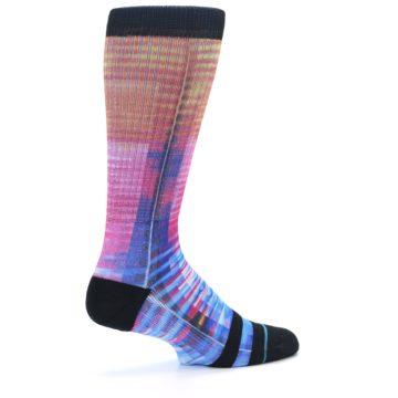 Image of Multi-Color Stripe Pattern Men's Casual Socks (side-1-23)