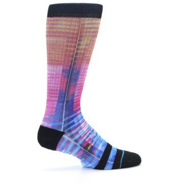 Image of Multi-Color Stripe Pattern Men's Casual Socks (side-1-24)