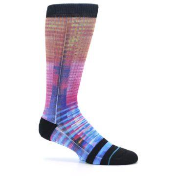 Image of Multi-Color Stripe Pattern Men's Casual Socks (side-1-25)