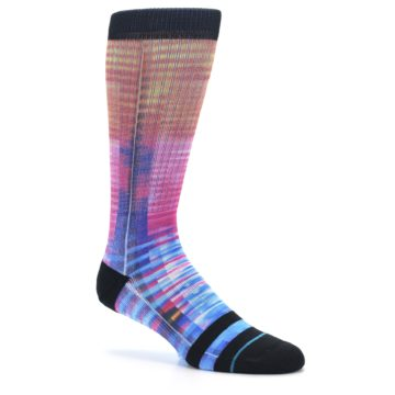 Image of Multi-Color Stripe Pattern Men's Casual Socks (side-1-26)
