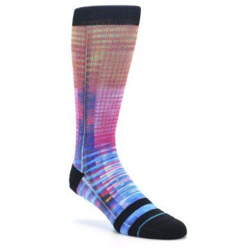 Image of Multi-Color Stripe Pattern Men's Casual Socks (side-1-27)