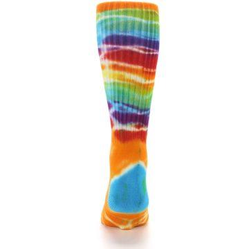 Image of Orange Multi Tie Dye Bamboo Men's Socks (back-18)