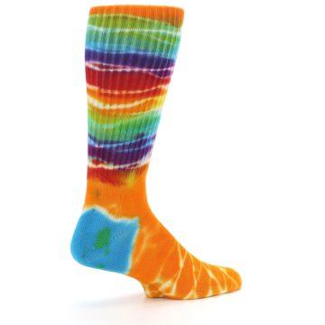 Image of Orange Multi Tie Dye Bamboo Men's Socks (side-1-23)
