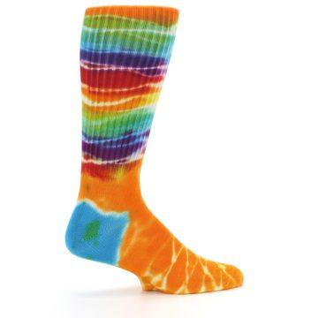 Image of Orange Multi Tie Dye Bamboo Men's Socks (side-1-24)