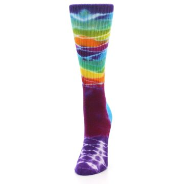 Image of Purple Multi Women's Tie Dye Socks (side-2-front-06)