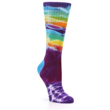 Image of Purple Multi Women's Tie Dye Socks (side-1-27)