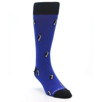 Image of Blue Penguins Men's Dress Socks (side-1-front-02)