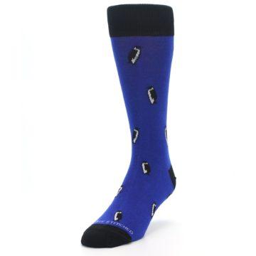 Image of Blue Penguins Men's Dress Socks (side-2-front-07)
