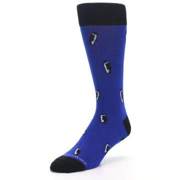 Image of Blue Penguins Men's Dress Socks (side-2-front-08)