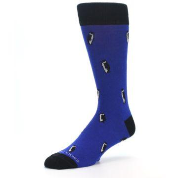 Image of Blue Penguins Men's Dress Socks (side-2-09)
