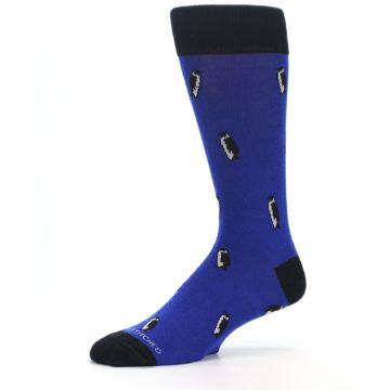 Image of Blue Penguins Men's Dress Socks (side-2-10)