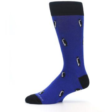 Image of Blue Penguins Men's Dress Socks (side-2-11)