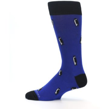 Image of Blue Penguins Men's Dress Socks (side-2-12)