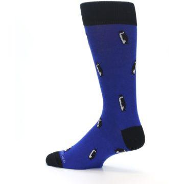 Image of Blue Penguins Men's Dress Socks (side-2-13)