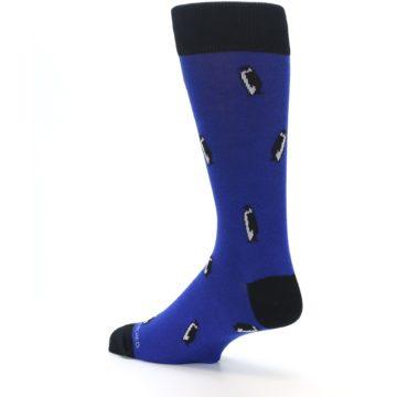 Image of Blue Penguins Men's Dress Socks (side-2-back-14)