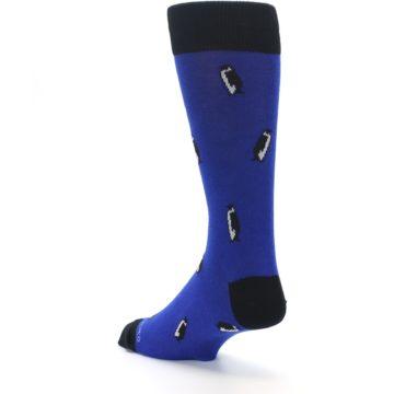 Image of Blue Penguins Men's Dress Socks (side-2-back-15)