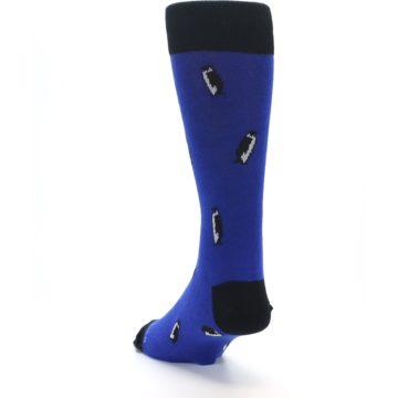 Image of Blue Penguins Men's Dress Socks (side-2-back-16)