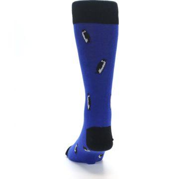 Image of Blue Penguins Men's Dress Socks (back-17)
