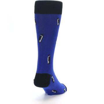 Image of Blue Penguins Men's Dress Socks (side-1-back-20)