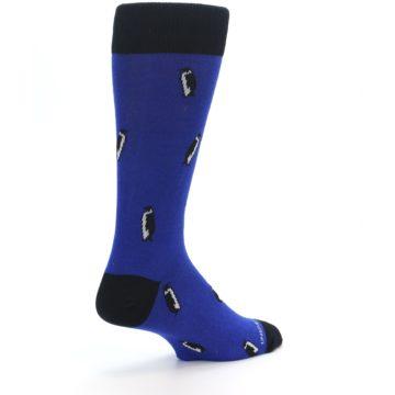Image of Blue Penguins Men's Dress Socks (side-1-back-22)