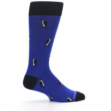 Image of Blue Penguins Men's Dress Socks (side-1-24)