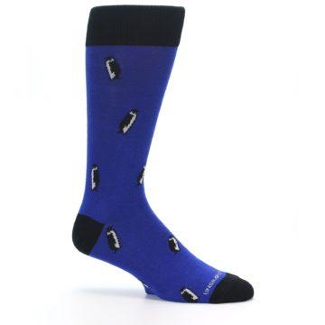 Image of Blue Penguins Men's Dress Socks (side-1-25)