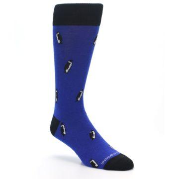 Image of Blue Penguins Men's Dress Socks (side-1-27)