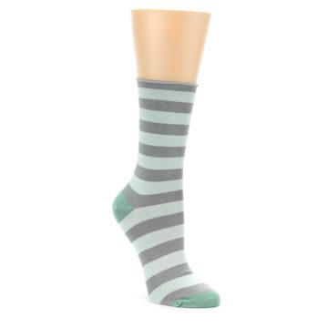 Women's Bamboo Stripe Grey Socks