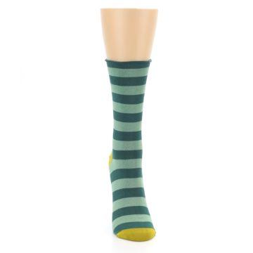Image of Greens Stripe Women's Bamboo Dress Socks (front-04)