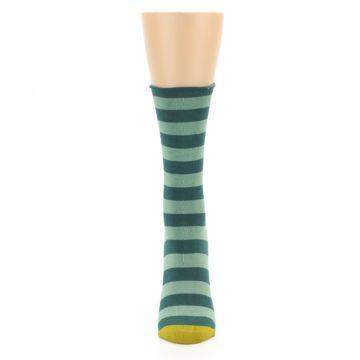 Image of Greens Stripe Women's Bamboo Dress Socks (front-05)