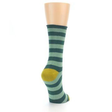 Image of Greens Stripe Women's Bamboo Dress Socks (side-1-back-21)