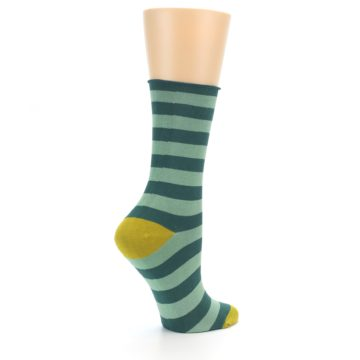 Image of Greens Stripe Women's Bamboo Dress Socks (side-1-23)